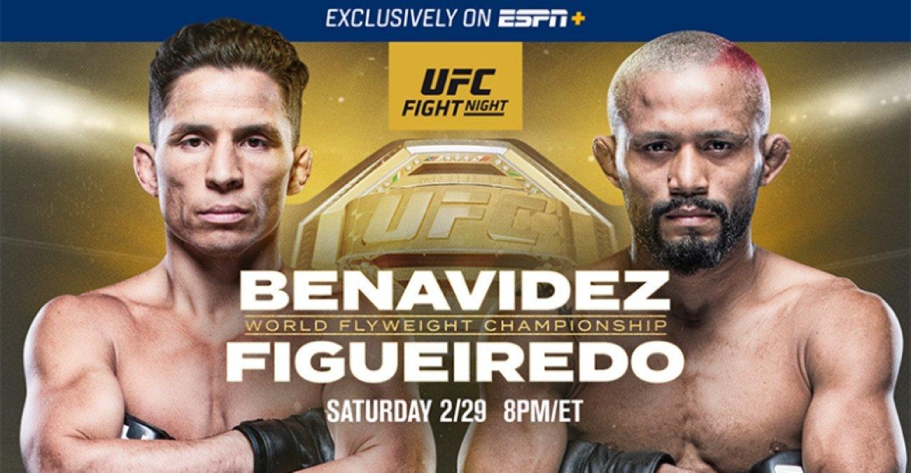 Main Event features Joseph Benavidez vs. Deiveson Figueiredo in a clash for the vacant Flyweight Championship; co-main features Felicia Spencer vs. Zarah Fairn