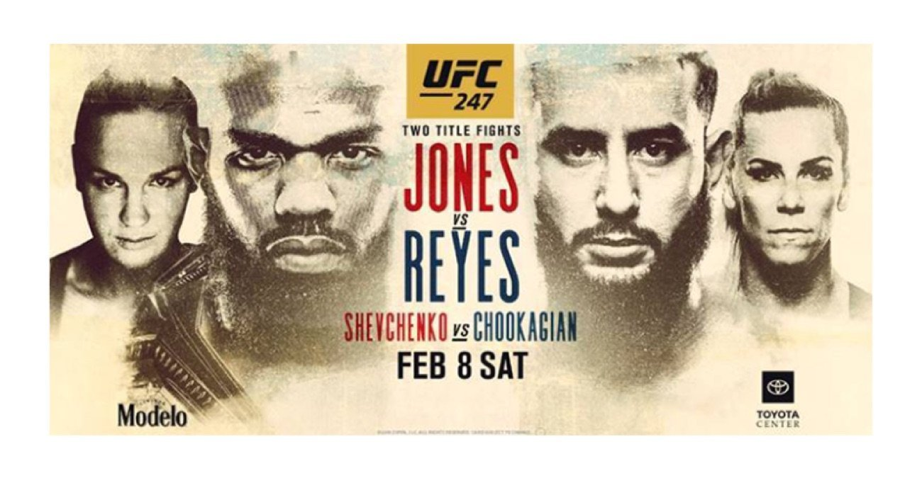 Two championship bouts headline UFC 247: Jon Jones (C) vs Dominick Reyes and Valentina Shevchenko (C) vs Katlyn Chookagian