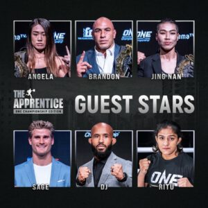 The largest global sports media property in Asian history, ONE Championship™ (ONE), today announced the addition of an incredible line-up of ONE Championship athletes and World Champions who will join 'The Apprentice: ONE Championship Edition' as special guest stars on ONE's unique version of the hit reality television series.