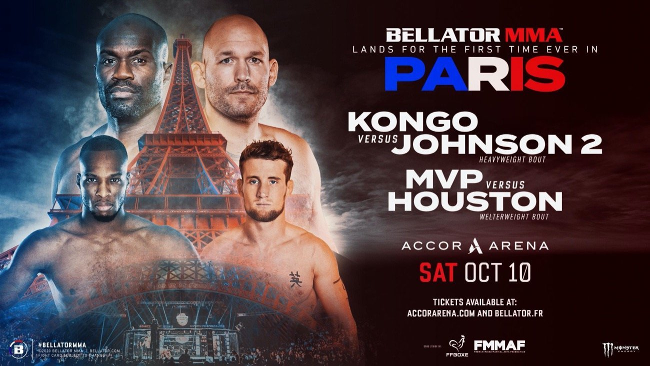 France has approved the practice of mixed martial arts and has placed the sport under the supervision of the French Boxing Federation (FFB). With these recent government approvals, Bellator is pleased to announce that it will become the first promotion to hold a major MMA event in France with a monumental show on Saturday, October 10, 2020 at Accor Arena in Paris. Bellator Paris will feature 13 MMA bouts and three boxing matchups.