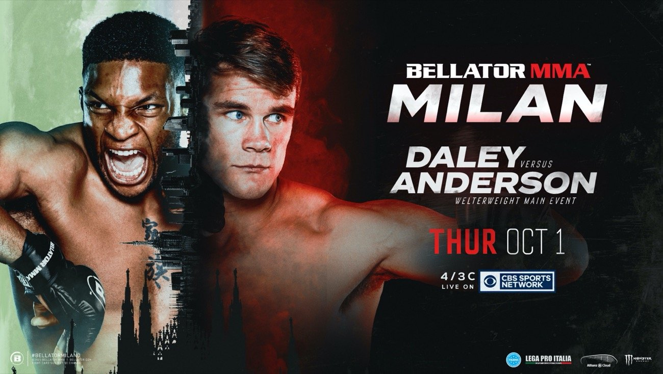 Bellator MMA has today confirmed the full fight card for Bellator 247: Daley vs. Anderson, which takes place Thursday, Oct. 1 at Allianz Cloud in Milan, Italy.