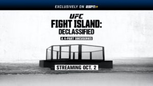 UFC Fight Island: Declassified, a new thought-provoking, four-part docuseries exposing the determination, heartbreak and raw emotion of UFC's challenge to produce a major sports event when much of the world was shut down, will premiere next Friday, October 2, exclusively on ESPN+. Featuring never before seen footage of UFC President Dana White, UFC athletes, coaches, UFC announcers, production crew, security personnel, medical staff, and more, UFC Fight Island: Declassified chronicles all that went into producing UFC 251 on Yas Island in Abu Dhabi this past summer.